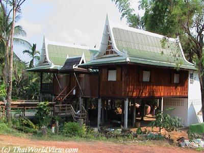 Thai-style wooden house